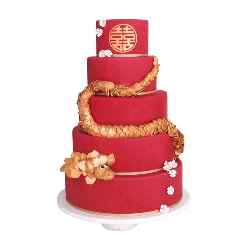 Chinese Dragon || Sugarlips Cakes || www.SugarlipsCakes.com