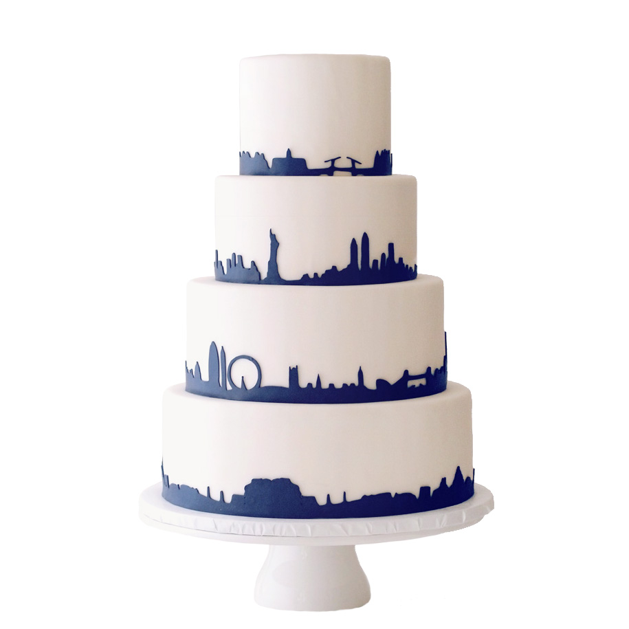 Skylines || Sugarlips Cakes || www.SugarlipsCakes.com