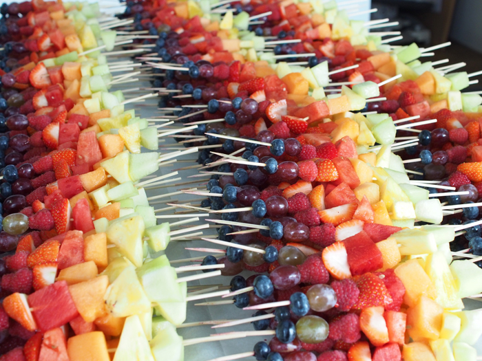 Sweet Catering - Rainbow Fruit Skewers